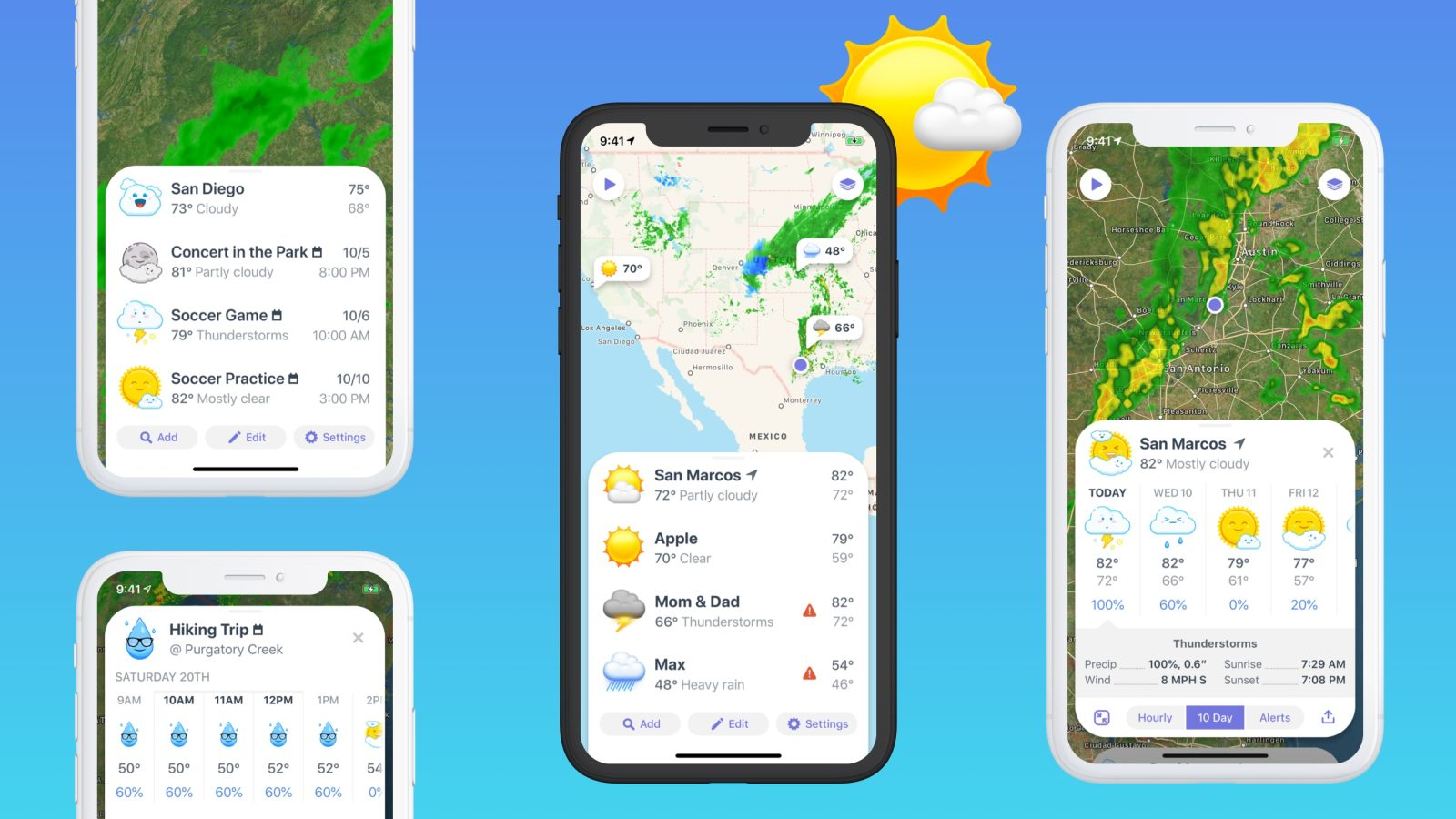 Weather Up App provides you forests for your Calender events